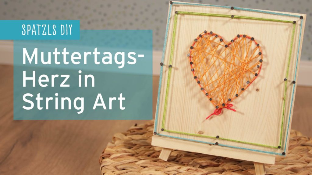 Muttertags-Herz in String Art